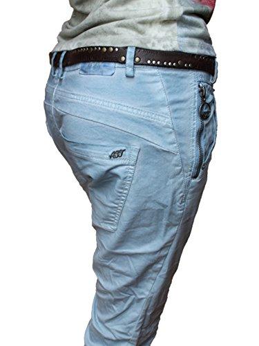 Damen Jeans, ATT, Kira, 11973/3193-420, boy fit, stone blue / hellblau stone blue / hellblau