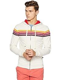 United Colors of Benetton Men's Cotton Sweatshirt (17A3S44J8004I902S_Off-White_S)