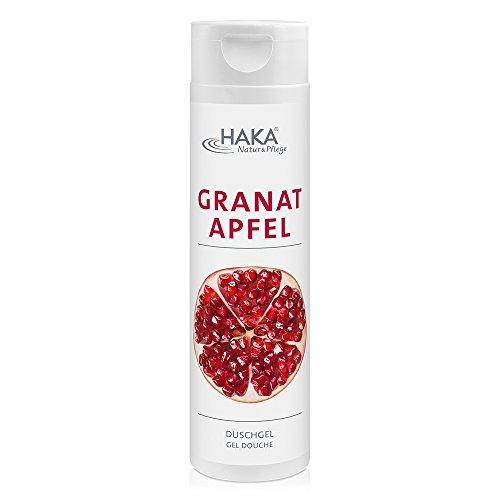 HAKA Duschgel Granatapfel I 250 ml Haut & Körper Pflege I Exotisches Shower Gel mit natürlichen Tensiden I Reinigende Pflegedusche I Ohne Parabene I Ohne PEGs