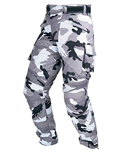 *Juicy Trendz Herren Motorradrüstung Biker Motorrad Hose Jeans Trousers Textil Camo Cardura Grau W34 L32*
