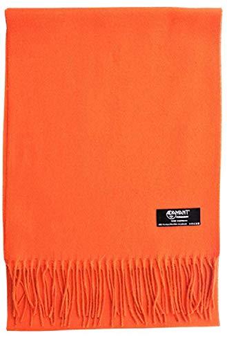 ADAMANT Damen Schal | MADE IN GERMANY | Verschiedene Farben, Orange, 180cm lang x 30 cm breit