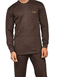 Lux Cottswool Brown Thermal Round neck Mens Top size 100