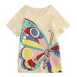 JUTOO Kleinkind Kinder Baby Jungen mädchen Kleidung Kurzarm niedlichen Cartoon Tops t-Shirt Bluse (Gelb,160)