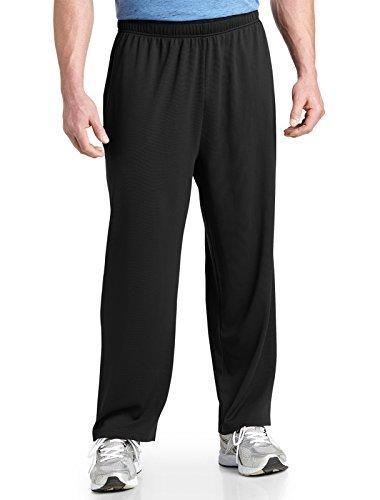 Reebok Big & Tall Play Dry Mesh Knit Pants (3XL, Black) (Reebok Play Dry)