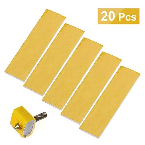 Ueetek 20pcs riscaldamento blocco cotone per stampante 3d hotend ugello 3mm di isolamento termico