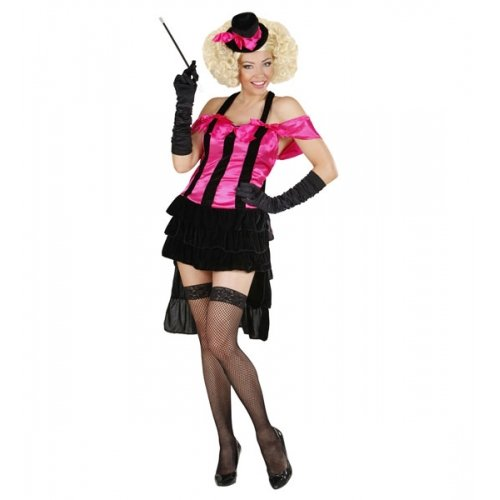 WIDMANN Damen Burlesque-Diva-Kostüm für Wilder West, Saloon, Mädchen, Moulin - Kostüm Cabaret Moulin Rouge