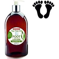 Foot Cream Ultra Moisturizing Therapeutic with Tea Tree Oil Anti Fungus 250 ml - DEODORANT Feet
