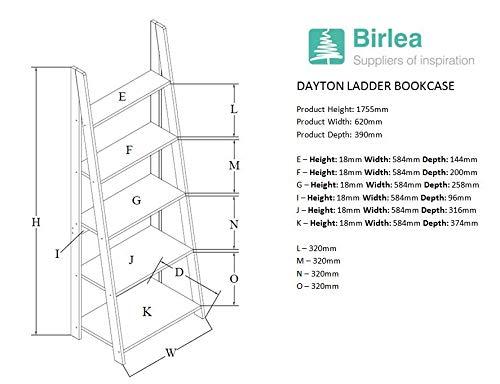 41NOkH0GxiL - Birlea, Dayton, Ladder Bookcase, Wood, Oak, One Size