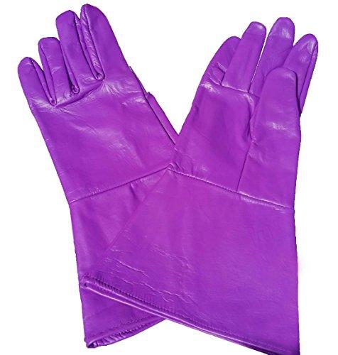 Leather Mystics Leder Stulpenhandschuhe Violett XX-Small (Extra Extra Klein)