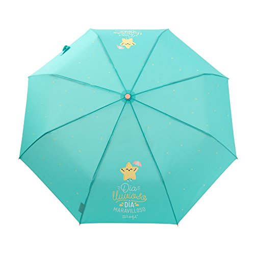 Mr. Wonderful Lluvia 17 WOA08592ES Paraguas clásico, 24 cm, Multicolor Mr. Wonderful