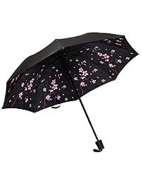 Babysbreath17 A Prueba de Viento Plegable Paraguas Muchachas de Las Mujeres de los Hombres UV sombrilla