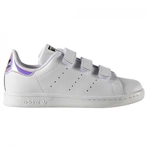 Adidas Stan Smith CF C, metallic silver-sld/metallic silver-sld/frozen yellow, 32 (Smith Stan Comfort)