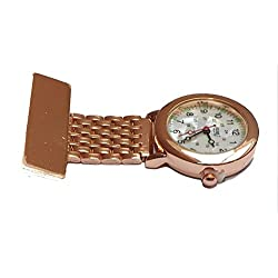 Censi Traditional Gold Fob Watch White Mother of Pearl Dial Nurse Doctor Paramedic Unisex Men Woman