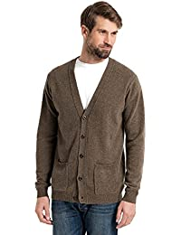 WoolOvers Cardigan à col V - Homme - Laine dagneau