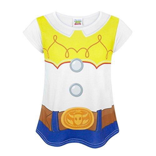 Toy Story Disney Kinder/Mädchen Jessie Kostüm T-Shirt (9-10 Jahre (140)) (Weiß)