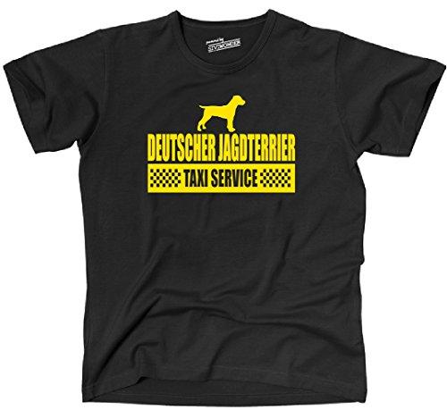 Siviwonder Unisex T-Shirt DEUTSCHER JAGDTERRIER Taxi Service Hund Hunde lustig fun Schwarz