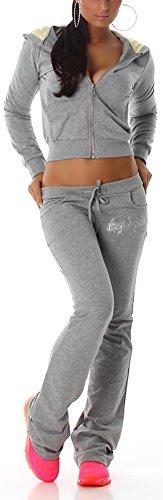 Jela London - Ensemble sportswear - Uni - Manches Longues - Femme Gris - Gris