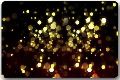 tgyew Cushion Beautiful Gold Lighting Dream Sense Home Decorations Rug Rectangle Size 23.6x15.7,Multi-Function Indoor Outdoor Beautiful Doormat - Square Bath Lighting