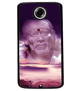 ColourCraft Lord Sai Baba Design Back Case Cover for MOTOROLA GOOGLE NEXUS 6