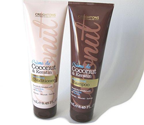 Shampooing et après-shampooing Creightons Crème de Coco et Kératine, 2 x 250 ml