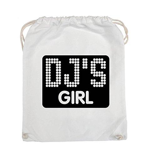 Comedy Bags - DJ'S GIRL - NEGATIV PUNKTE - Turnbeutel - 37x46cm - Farbe: Schwarz / Pink Weiss / Schwarz