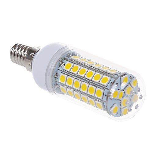 SODIAL(R) 10x E14 8W 69 LED 5050 SMD Lampe Leuchtmittel Spot Strahler Birne Warmweiss