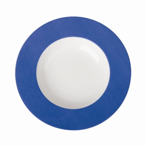 Royal Porcelaine Gg122 Maxadura Edge Assiette à pâtes, Liseré, Bleu (lot de 12)