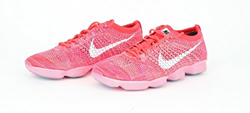 NIKE Flyknit Zoom Agility Baskets de running 698616 Sneakers Chaussures Red 601