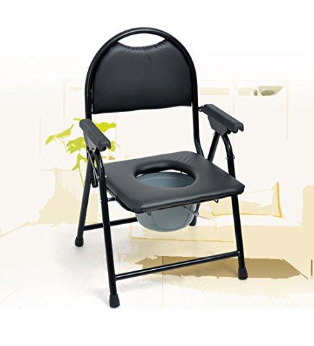 Weseason sgabello da toilette pieghevole sedile con comoda sedia da toilette per anziani comodino portatile comodino comodino per anziani disabili sedia da toilette sedia da toilette medica nero