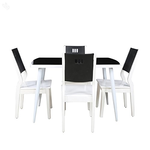 Parin Alex Four Seater Dining Table Set (White)