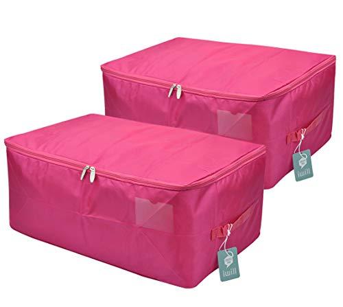 iwill CREATE PRO Rosy Tröster Aufbewahrungstasche, staubdicht, mottenfeste Organizer-Container für den Schrank, 2 Stück - 2 Stück Tröster