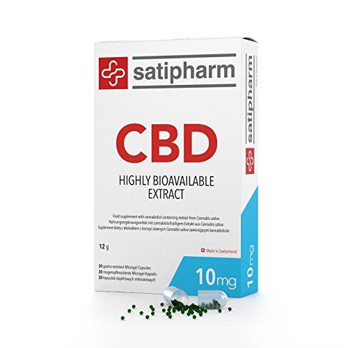 *CBD Gelpell® Microgel Kapseln 10mg – 100% natürliches Cannabidiol – 30 CBD Kapseln/Packung – Swiss Made by Satipharm*