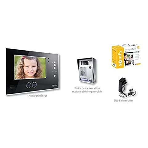 Interphone Somfy - SOMFY - Visiophone video couleur V200 REMPLACE