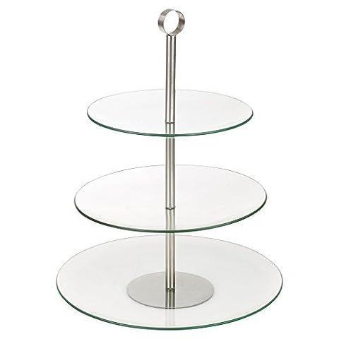 Présentoir à gâteau en verre à deux étages, 3 Tier Round