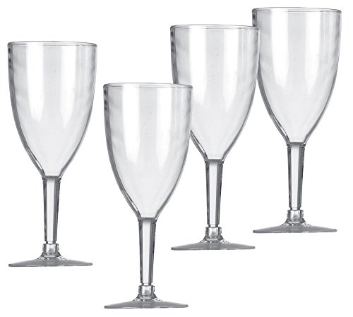 Preisvergleich Produktbild Vango Weinglas Wine Glass Set of 4, Clear, One Size, ACXACRYLC3MBW44