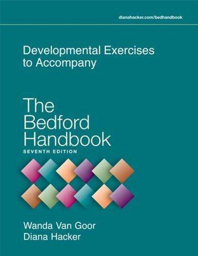 The Bedford Handbook by Diana Hacker (2005-11-18) par Diana Hacker;Wanda Van Goor