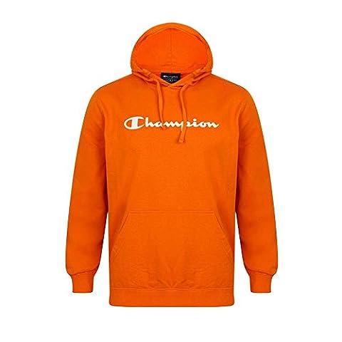 Champion Mens Hooded Sweatshirt Large Logo Hoodie Orange Gold Limited Edition. COLOUR - ORANGE 209394-1323. SIZE - XX-LARGE.