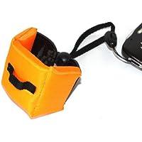 Maxsimafoto? - Orange Floating wrist strap for waterproof cameras, Nikon AW100, AW110, AW120, S30, Samsung WP10, Olympus TG-1, TG310, TG820, Canon D20, D30 Fuji XP50, XP70 Panasonic FT4.