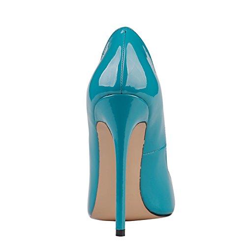 MERUMOTE , Chaussures à talon fin femme Bleu