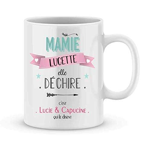 Cadeau mamie - Mug mamie à personnaliser avec votre prénom elle déchire - Cadeau personnalisé fête des grands-mères - idée cadeau fête des mamies - mug mamie personnalisé