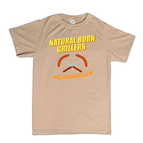 Natural Born Grillers Killers Funny T-shirt Beige