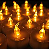 12 Stücke Bernstein Gelb Glow Blink Gefälschte Kerze Batteriebetriebene Stumpenkerze Günstige Led Für Restaurant Hochzeit Deco