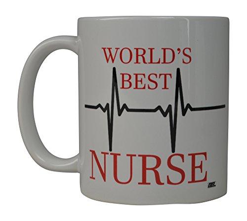 Rogue River Funny Kaffee Tasse World 's Best Nurse Neuheit Tasse tolle Geschenkidee für Doctor CNA RN Psych Tech (World 's Best)
