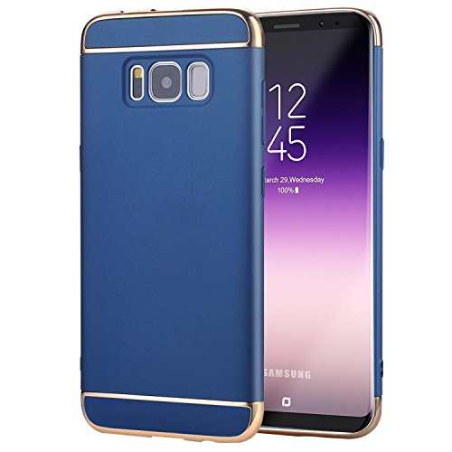 Samsung Galaxy S8 Case, AEETZ, 3 in 1 Anti-Scratch Shockproof Thin Electroplate, Hard Back Case Cover For Samsung S8 / S8 Back Case – Blue