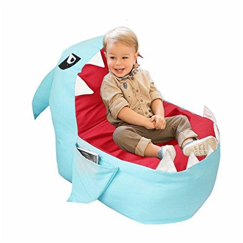 Kinder Sitzsack Stuhl Spielzeug Aufbewahrungssack Sitzsack Kinderbezug Stofftier Tasche Kinder Spielzeug Organizer Sitzsackbezug Bequeme Stuhl Bequeme Sitzgelegenheiten Für Kinder 80*80Cm,Blue,80*80Cm