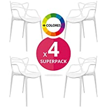 regalosMiguel - Pack de 4 Sillas Korme Blancas