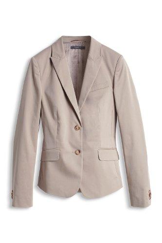 ESPRIT Collection Damen Blazer 994EO1G900 Slim Fit Beige (192 COSMOPOLITAN BEIGE)