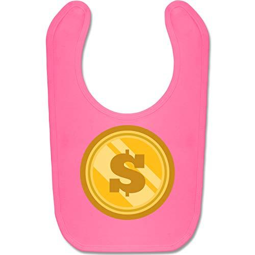Shirtracer Karneval und Fasching Baby - Münze Kostüm - Unisize - Pink - BZ12 - Baby Lätzchen ()