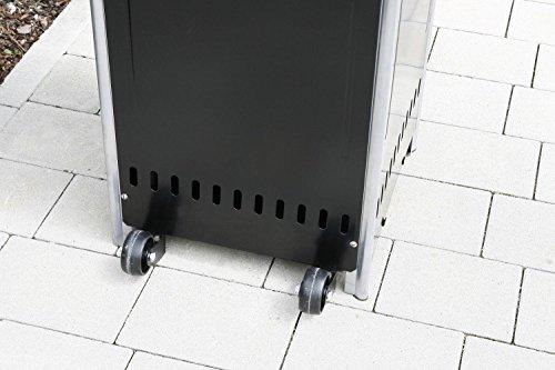 Gasheizer Heizpilz 'Optical Pro' GRAPHIT MATT Heizstrahler Terrassenheizer; - 6