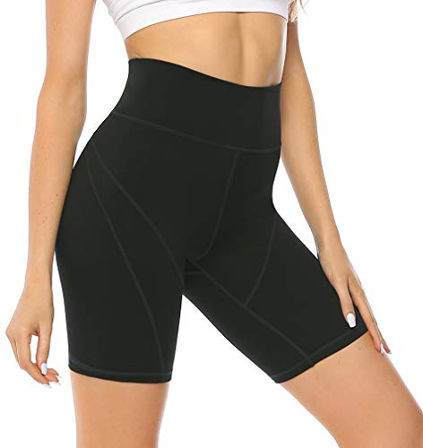 Persit Sporthose Kurz Damen Leggings - Sport Leggins Blickdicht Yogahose Yoga Leggings Laufhose Schwarz-S